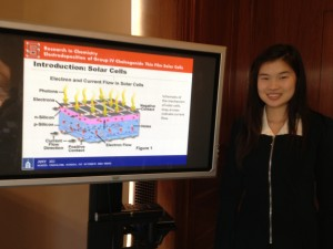 Amy presenting her research