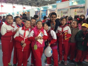 Dhruv with Chinese children he met